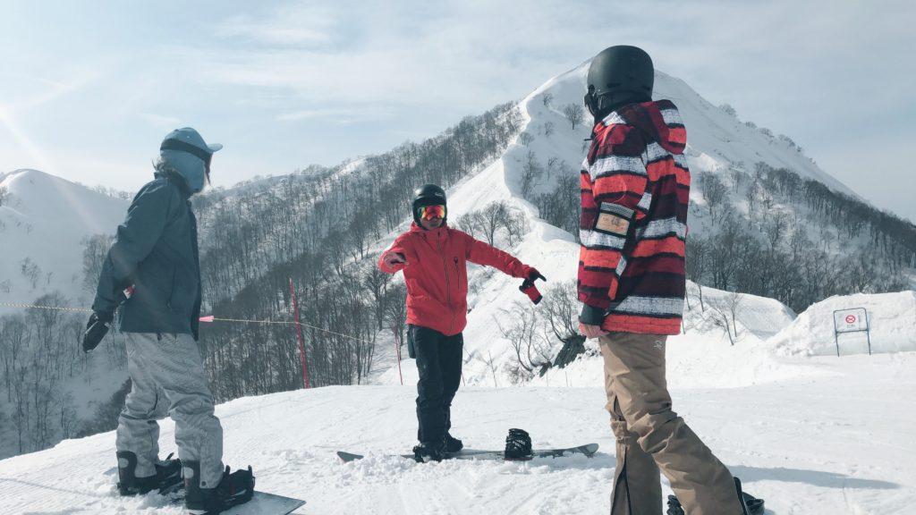 kuri-chan snowboarding lesson